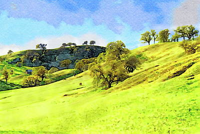 Painting - Rolling Hillside Northern California by Russ Harris