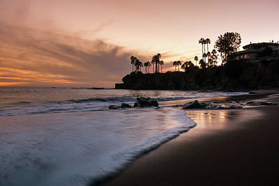 Photograph - Laguna Beach Shaw's Sunset by Seascaping Photography