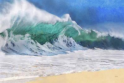 Painting - Shorebreak Wave by Russ Harris