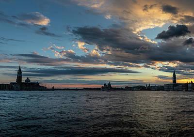 Photograph - Sundown over Venice, San Giorgio and San Marco by Marion Rockstroh-Kruft