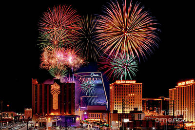 Photograph - The Plaza 50th Anniversary Fireworks Show 2021 Wide by Aloha Art