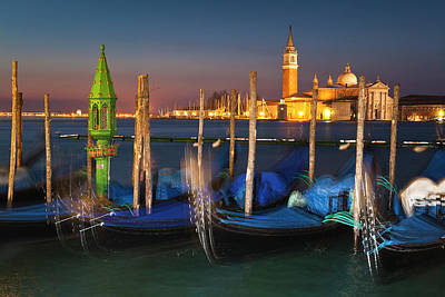 Photograph - Venice by night by Rainer and Simone Hoffmann