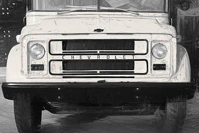 Photograph - Vintage Chevrolet school bus by Farzad Frames