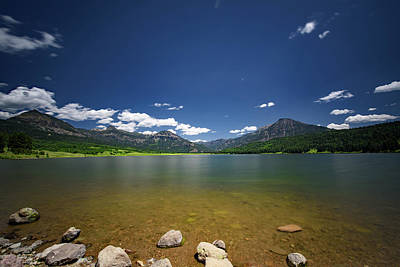 Photograph - Williams Creek Reservoir Colorado Mountains by Cathy Neth