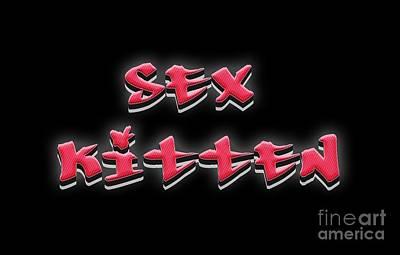 Sex Kitten Digital Art