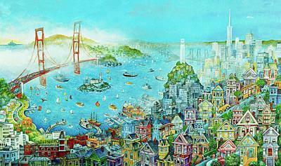 San Francisco Ferry Building Paintings Fine Art America