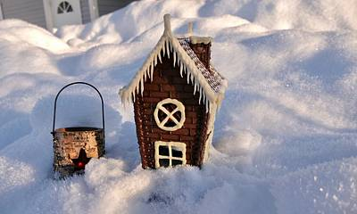 Photograph - Chocolate House On A Snow, Property Concept by Tamara Sushko