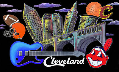 Painting - Cleveland Rocks by Allison Liffman