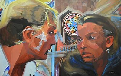 Painting - Dora Mina and the Man Entering the Room by Andrew Sandberg
