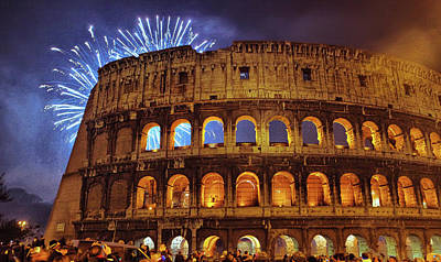 Photograph - Happy New Year, Rome by Millner Stephanie