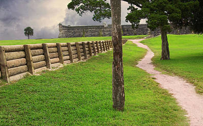 Photograph - Path wall leading up to Fort by Bob Pardue