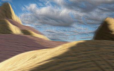 Mixed Media - The Desert Sky Painterly by Bob Pardue
