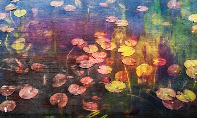 Digital Art - Water Lilies by Vin De Rosa