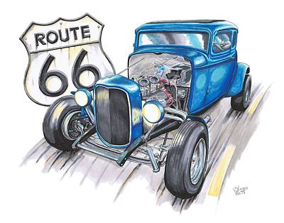Route 66 Drawings