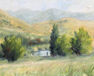 Painting - Old Church Camp Ground by Nik English