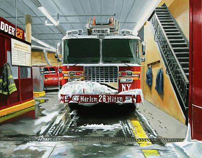 Ladder Truck Paintings