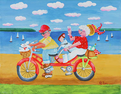 Bicycle Built For Two Paintings