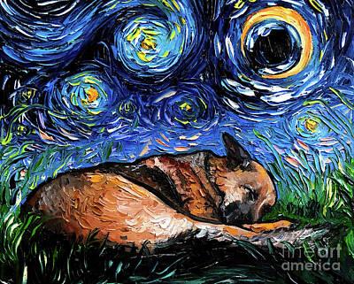 Painting - German Shepherd 4 by Aja Trier