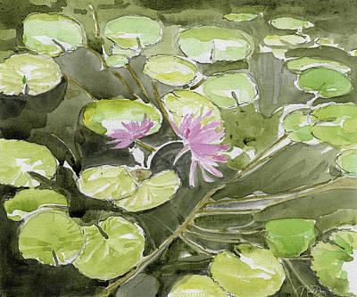 Painting - Lotus Pond by Nehal Desai