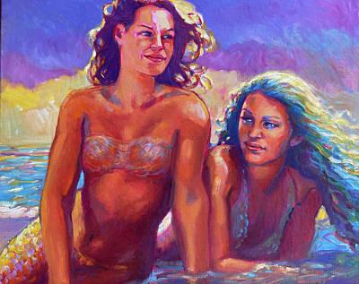 Painting - Magic Mermaids 2 by Isa Maria