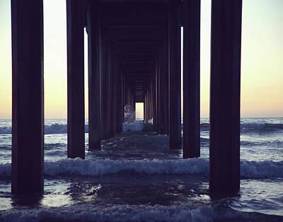 Photograph - Scripps Pier, CA by Saroum Giroux