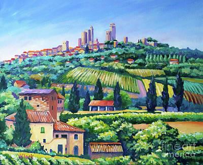 Italian Vineyards Paintings