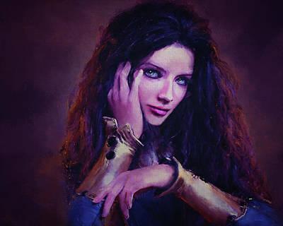 Digital Art - Woman Portrait by Kirsten Aufhammer