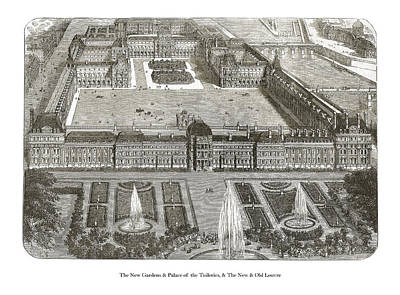 Drawing - The Louvre  by London Illustrated News