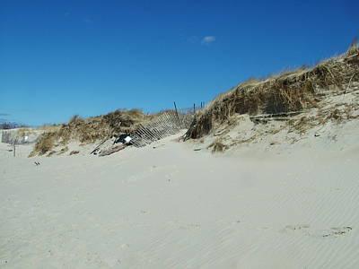 Photograph - Beach Barrier by Geoffrey McLean