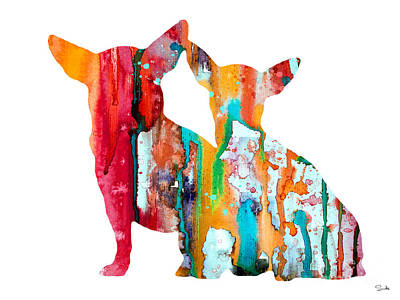 Watercolor Dogs Wall Art