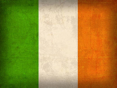 Irish Flags and Maps Wall Art