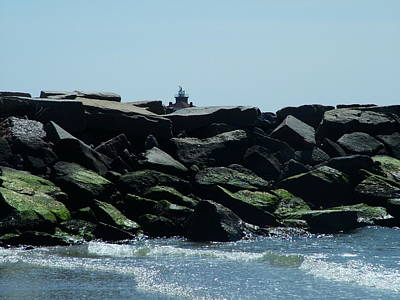 Photograph - Jetty and Lighthouse by Geoffrey McLean