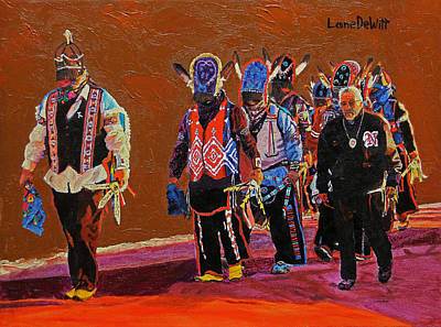 Painting - Joe Garcia's Soldiers by Lane DeWitt