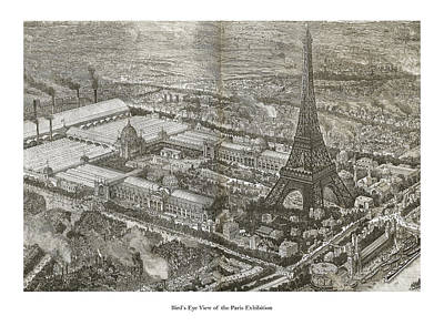 Drawing - The Eifel Tower by London Illustrated News