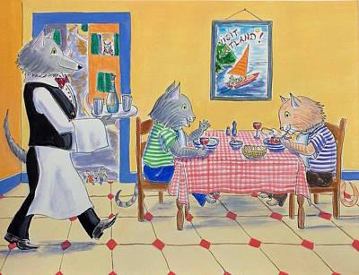 Painting - Catland Cafe by Roxana Lehmann-Haupt