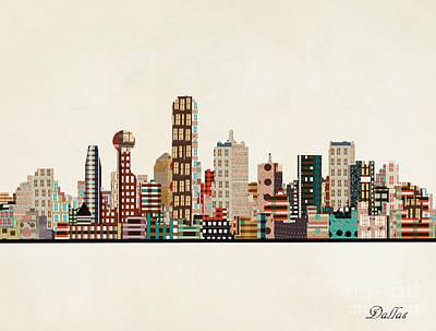 Dallas Skyline Paintings
