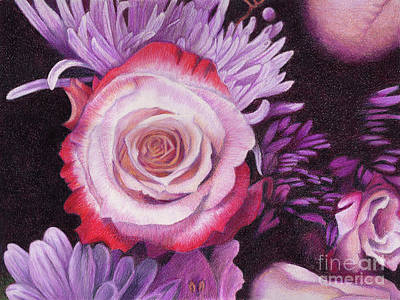Painting - Double Delight at Dusk by Rhonda Dicksion