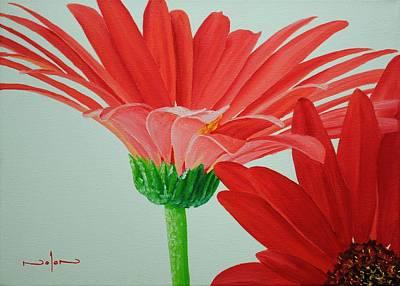 Painting - Gerbera Daisies by Nolan Clark