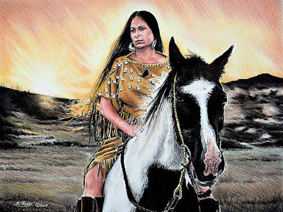 Indian Maiden Drawings