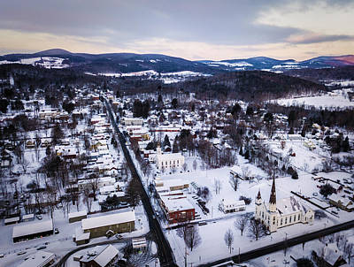 Photograph - Snowy Cambridge, New York by Bert Perry