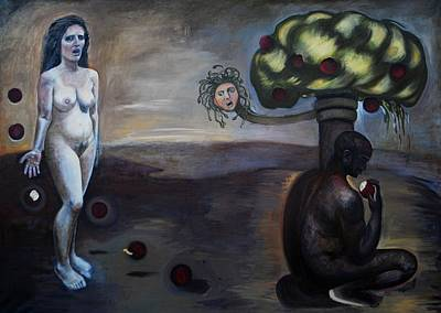 Painting - The Expulsion of Adam and Eve by Lynda Diamond