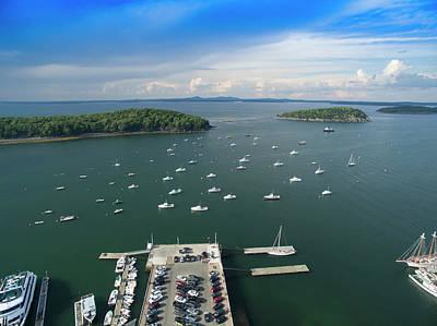 Photograph - Bar Harbor Maine by Mid Atlantic Aerial