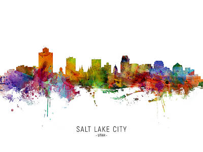 Designs Similar to Salt Lake City Utah Skyline