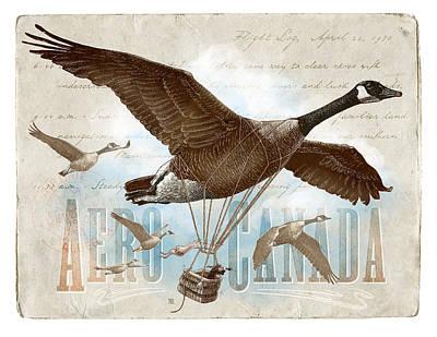Drawing - Aero Canada by Clint Hansen