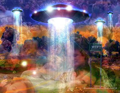 Digital Art - Alien Dream by Brenda Ferrimani