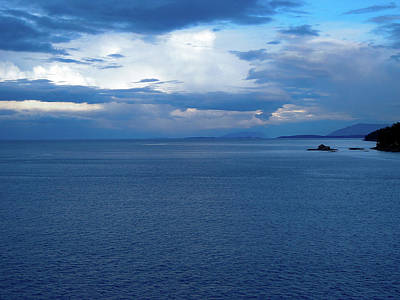 Photograph - An ocean of blues off the British Columbia coast by Cameron Conway