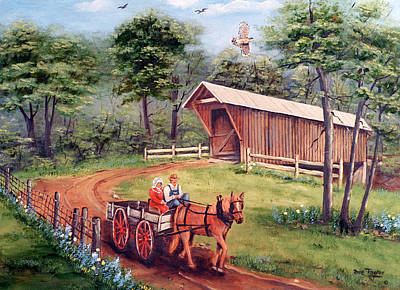 Covered Wagon Paintings