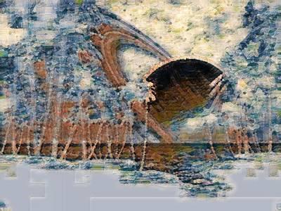 Digital Art - Going Below The Horizon by Gail Daley