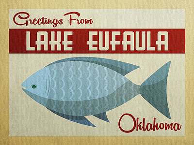 Designs Similar to Lake Eufaula Oklahoma Blue Fish