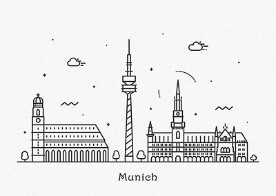 Designs Similar to Munich Cityscape Travel Poster